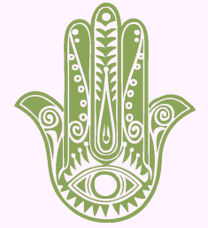 Hamsa Hand green